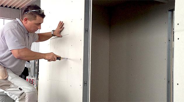 Ausschnitt für ein Fenster - Trockenbaumeisterschaft